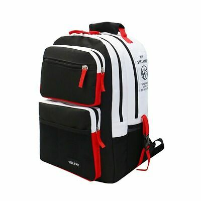 Black White Stitching High School Bags For Teenager Boys Girls Travels Backpacks