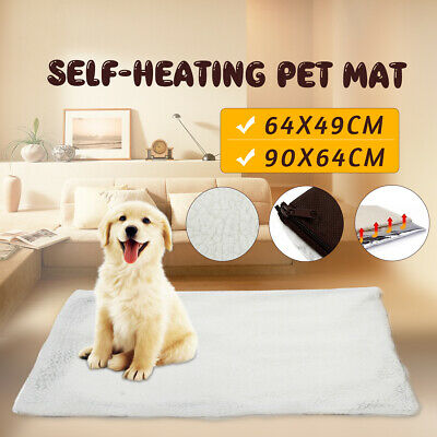 Self Heating Pet Dog Bed Mattress Soft Warm Cat Mat Cushion Thermal Pad Washable