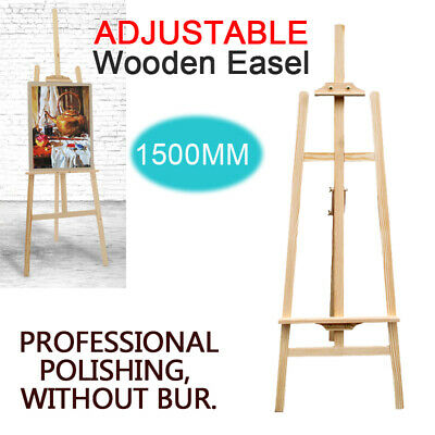 1500MM HIGH STUDIO EASEL 5ft ARTIST ART CRAFT DISPLAY WOODEN TRIPOD FAST POST
