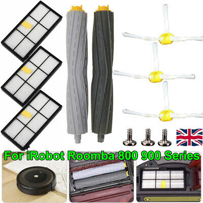 HEPA Filter Extractor Brushes Parts Kit for iRobot Roomba 800 870 880 900 980 UK