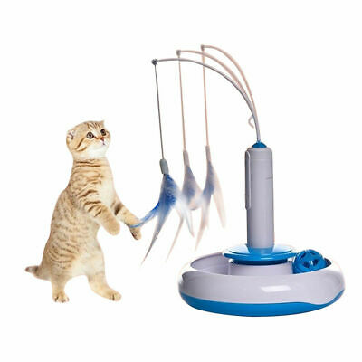 Pet Cat Electric Toys Teaser Interactive Cats Toy Rotating Funny Feather Toys