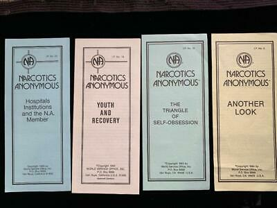 Narcotics Anonymous - lot of 4 vintage informational pamphlets 1983 to 1985