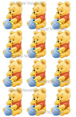 Disney Cake Toppers Baby Winnie the Pooh Cupcake Toppers Edible Image