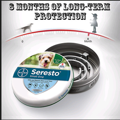 Bayer Seresto² Flea and Tick Collar for Small Dogs 8 Month Protection 50% OFF