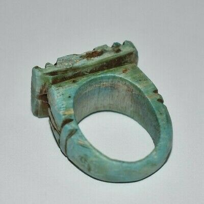 ANCIENT EGYPT ANTIQUE Egyptian stone ring talisman d (300-1500)BC