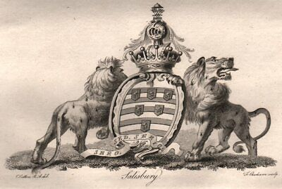 Heraldry 1790 old antique vintage print picture OSBORNE Coat of Arms