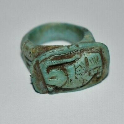 ANCIENT EGYPT ANTIQUE Egyptian stone ring Baboon e (300-1500)BC