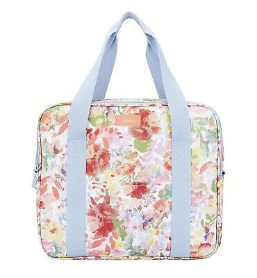Joules Picnic Cool Bag (White Floral)