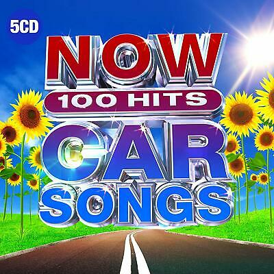 NOW 100 HITS CAR SONGS (Various Artists) 5 CD Set (2019)
