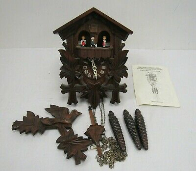 Vintage Black Forest Cuckoo Clock Wooden Mapsa Germany - EXX S26