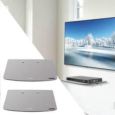 Tempered Glass Floating Shelf Wall Mount For Consoles/DVD players/TV Accessories