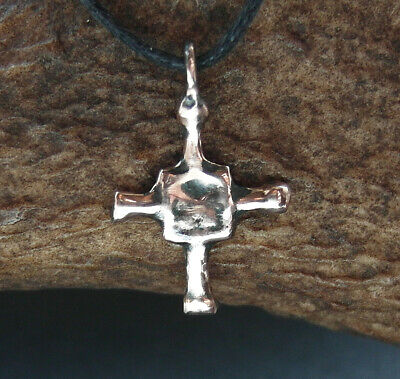 SUPERB GENUINE ANCIENT VIKING Æ PROTECTIVE CROSS AMULET  - wearable