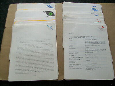 ABC TV Television lot of 250 press releases 1972 to 1977 shows/movies specials