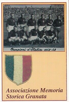 Calcio/Football Cartolina sq. GRANDE TORINO Commemorativa 11-10-2003 con annullo