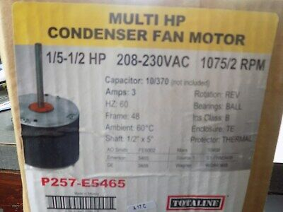 Totaline 1/5 to  1/2 HP 208 to 230 vac1075/4 RPM Direct Drive Blower Motor