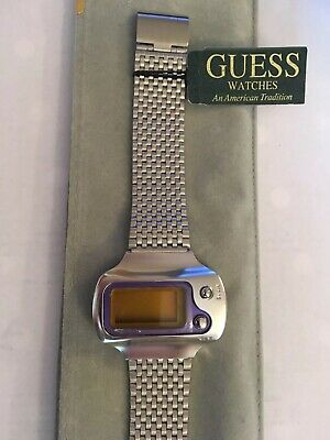 NEW Guess Mens Vintage Retro LCD Digital Watch 52281G1