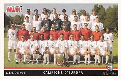 Calcio/Football Cartolina sq. MILAN 2002 Ed. Forza Milan originale