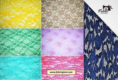 Corded Lace Light Weight Soft Corded Rachel Lace fabric,4 designs 148 cm Wide