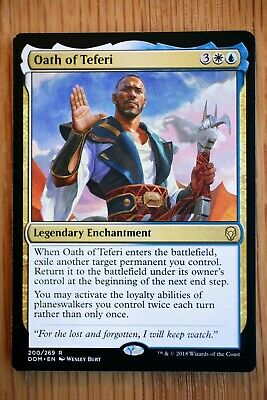 1x Oath of Teferi Magic the Gathering Dominaria Mtg Unplayed