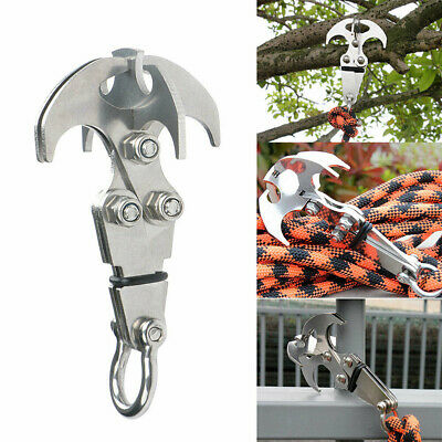 Stainless Steel Climbing Claw Gravity Grappling Hook Survival Folding Grappling