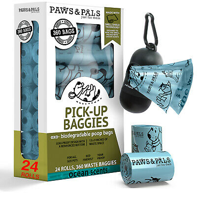 Poop Bags for Dogs -Pet Dog & Cat Ocean Scented Biodegradable Waste Poo Bag