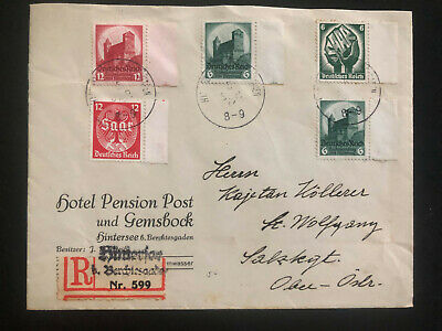 1930s Saar Germany Hotel Gemsbock cover To St Wolgang Switzerland