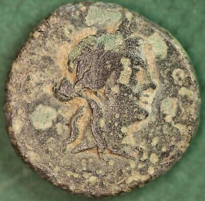 Ancient Greek AE bronze coin. c230BC, 15mm *[15904]