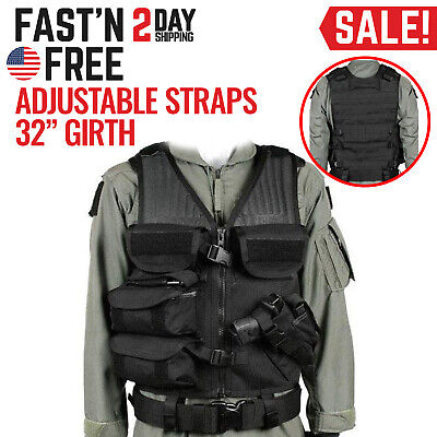 Tactical Vest Military Jacket Combat Police Army SWAT Assault Clothing Black