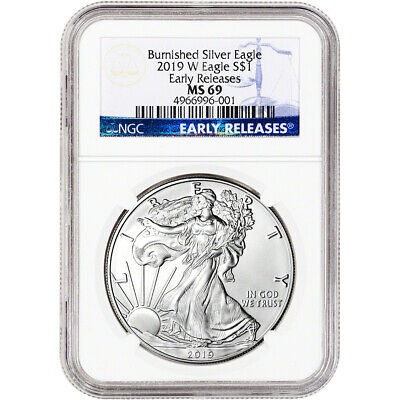 2019-W American Silver Eagle Burnished - NGC MS69 Early Releases
