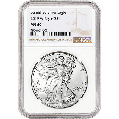 2019-W American Silver Eagle Burnished - NGC MS69