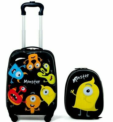 Kids Luggage Set 2 Pcs 12 Inch Backpack and 16 Inch Rolling Suitcase Travel New