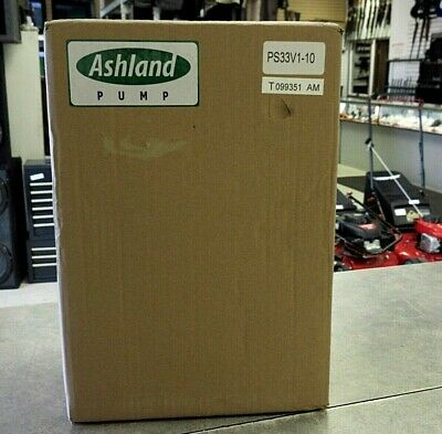 Ashland PS33V1-10 Thermoplastic 1/3 HP Submersible Sump Pump $New$