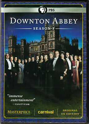 DOWNTON ABBEY The COMPLETE Third SEASON 3 on a DVD of PBS TV Original UK EDITION