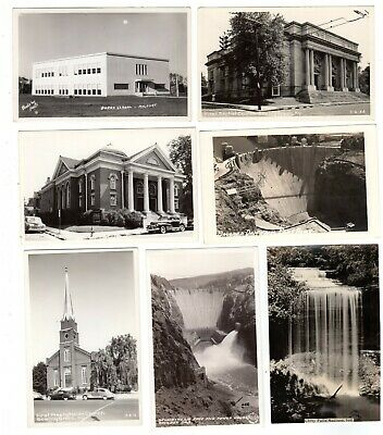 62 identified real photo postcards, many States, buildings, scenery, towns,other