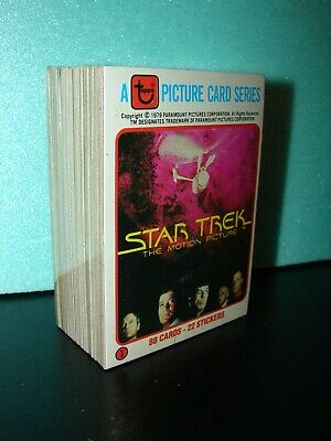 1979 Topps Star Trek Card Set - 88 card set (no sticker cards) - Shrink wrapped.
