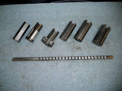 """DuMont 1/4""""-C HS Key Way Broach with Guide Bushings"""