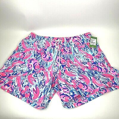 5ac3eb83fbfd2b NWT Lilly Pulitzer Mens XXL Capri Swim Trunk Cosmic Croral Cracked Up Print