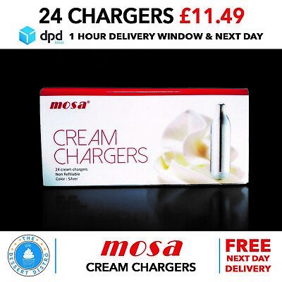 MOSA Whipped Cream Chargers N2O NOS Nitrous Oxide Gas £11.49 NEXT DAY DELIVERY