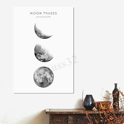 Abstract Moon Phases Canvas Print Painting Picture Wall Mural Hanging Home