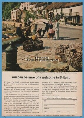 1968 Lynmouth Devon photo British Travel Association England UK vacation Ad