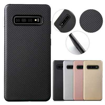 Soft Slim Carbon Fiber Rubber Case Cover For Samsung Galaxy Note 9/8 S10/S9/S8