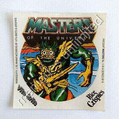 1980s Nabisco Vita-Brits, Rice Crispies MASTERS OF THE UNIVERSE STICKER #1