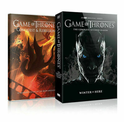 Game of Thrones: Season 7 Seventh (DVD, 2017) + Conquest & Rebellion Bonus Disc