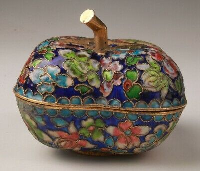 Precious Chinese Cloisonne Handmade Carving Flower Box Gift Collection