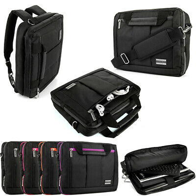 VANGODDY BLACK 3 in 1 Laptop Backpack Messenger Bag for 11 6
