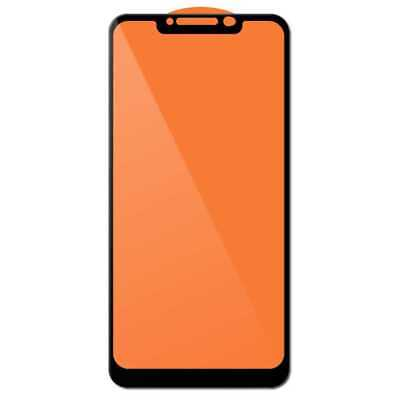 Cover Tempered Glass 9H 9D Screen Protector for Xiaomi Pocophone F1 Black Border