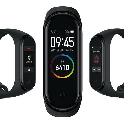 "Xiaomi Mi Band 4 Intelligent Armband 0,95"" Push Info Schwarz Global Version"