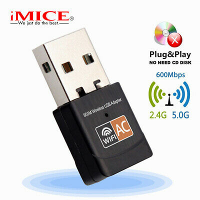 Wireless USB WiFi Adapter 600Mbps WIFI Dongle PC Network Card Dual Band WIFI5GHz