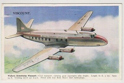 Aviation Carte Postale - Vickers Armstrong Viscount, Civil Transport Plan (A28)