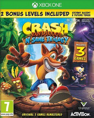 Crash Bandicoot N. Sane Trilogy (Xbox One) BRAND NEW AND SEALED - QUICK DISPATCH